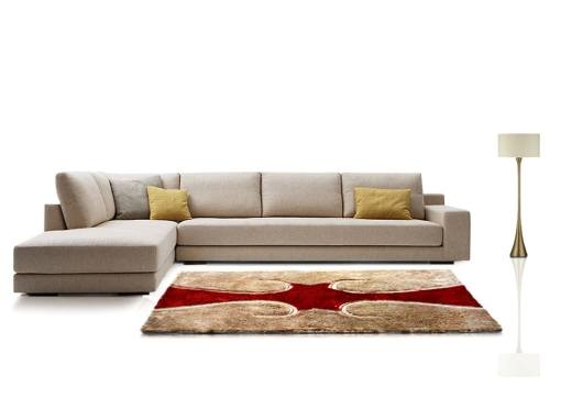 Modern Rug – Shag Pile Carpet in Beige and Red Design  –  Avioni  – Best Deal