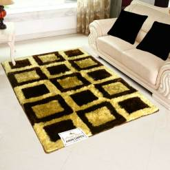 Buy Shaggy Carpet – Coffee And Brown Online