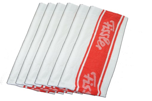 Kitchen Towels / Napkins 100% Cotton (Set Of Six) Red and white