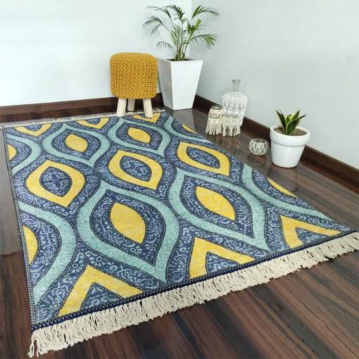 Avioni Carpets for Home Silk- Neo Modern Collection Divine Eye- 122×182 cm (4×6 Feet)