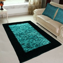 Avioni Rugs  Aqua  For Living Room Actual Feather Touch- Softness Guaranteed-Handloom Made Reversible Light Weight