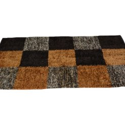 Avioni Rugs Brown Boxes For Living Room Actual Feather Touch- Softness Guaranteed-Handloom Made Reversible Light Weight