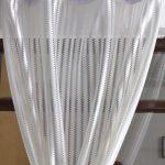 Avioni Elegant Sheer Curtains Zig Zag Design White Colour Window And Door Curtains Set Of 2