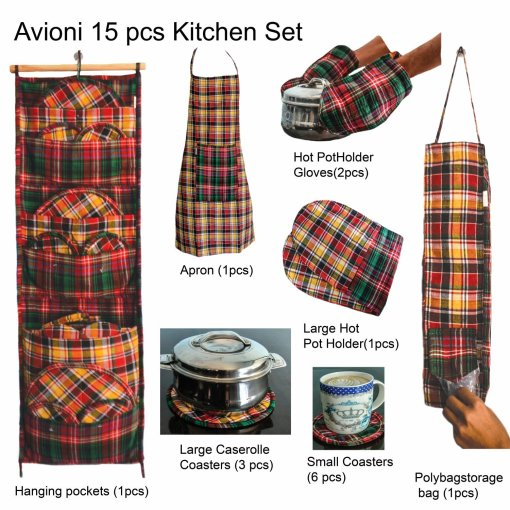 Wise Wife Favourite Kitchen Organiser Set of 15 Pcs by Avioni – A Solution to Keep Your Kitchen Neat and Tidy