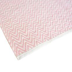 Avioni Lux Handloom Cotton Designer Durries-122 cm X 182 cm (4×6 Feet)- Pink