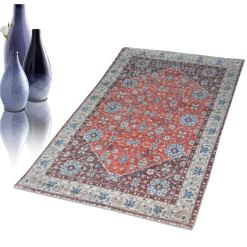 Avioni Faux Silk Carpet – 3D Printed Ethnic Collection Multi – 92×152 cm (3×5 Feet)