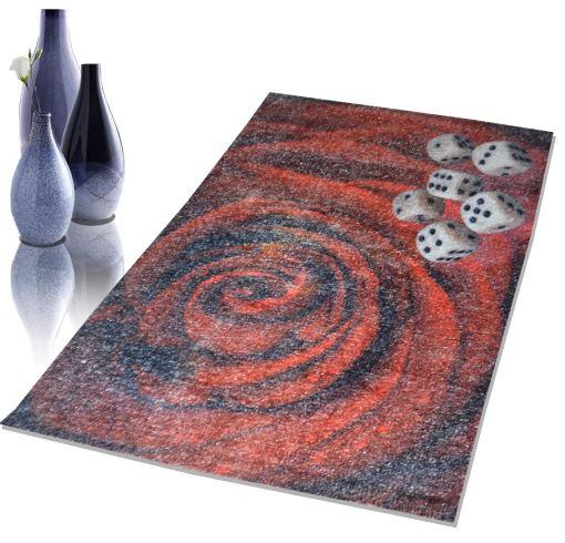 Avioni Faux Silk Carpet – Neo Collection 3D Rose – 92×152 cm (3×5 Feet)