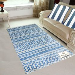 Avioni Carpets for Living Room – Neo Modern Collection Blue Carpet/Rug – 122x 182 cm (4X6 Feet)