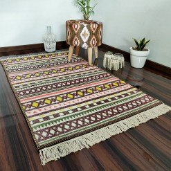 Avioni Carpets for Living Room – Neo Modern Collection Brown Carpet/Rug – 122x 182 cm (4X6 Feet)