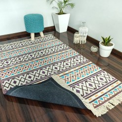 Avioni Carpets for Living Room – Neo Modern Collection Blue Tribal Design Carpet/Rug – 120cm x 180cm (~4×6 Feet)