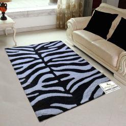 Avioni Shaggy Carpets Zebra Prints – 92×152 cm (3 Feet X 5 Feet)