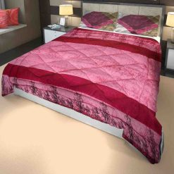 Microfiber Filling Heavy Weight Quilt(Razai) For Winters In Pink Colour