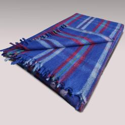 Wool Blankets Online| Premium Tartan Design |Single Bed Blue shade Multicolour