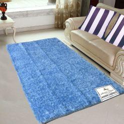 Last Piece Prices-Fur Rug For Living Room|Light Blue|By Avioni|122×182 cm|4×6 Feet