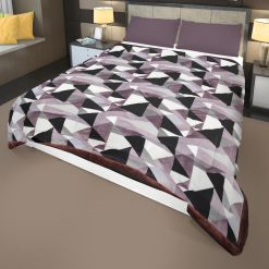 Flannel Quilt | Double Bed Quilt( Rajai)  For Winters Microfiber Filling Heavy Weight-English Colours Diamonds