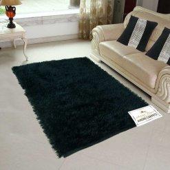 Fur Rug For Living Room|Black|By Avioni|92×152 cm|3×5 Feet