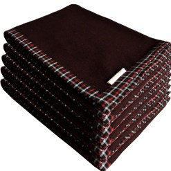 Blanket Combo Buy Online – Wool Blankets Coffee Bonfire Red And Black Check Border-set of 5 Blankets – MSF