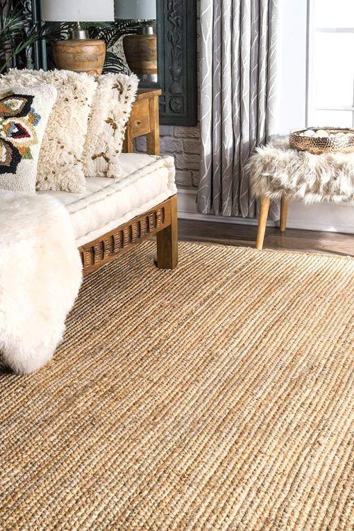 Natural Organic Jute Handmade Braided Rugs| Jute Large Area Rug|Avioni- Premium Collection-3.75X6.5 Feet cm