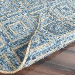 Denim/Jeans With Jute Handmade Braided Rugs | Blue Diamond Denim Area Rug|Avioni- Premium Collection