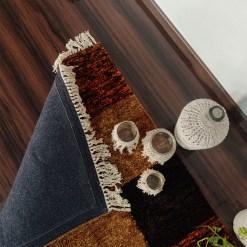 Avioni Carpets for Living Room/Pooja Room – Neo Modern Collection Orange Tie-Dye Box Carpet/Rug – 92x 152 cm (3×5 Feet)