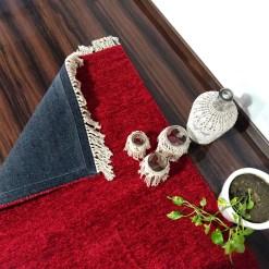 Avioni Carpets for Living Room/Pooja Room – Neo Modern Collection Red Carpet/Rug – 90cm x 150cm (~3×5 Feet)