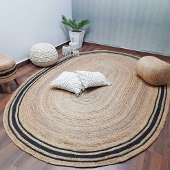 Natural Organic Jute Handmade Braided Rugs| Jute Large Area Rug|Avioni- Premium Collection- 200x 300 cm