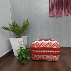 Avioni Home BigMo Collection -Cotton Printed And Part Tufted Pouf/ Ottomons Large Size-35x40x40