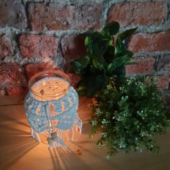 Avioni Home Hand Moulded Glass Jars With Beautifully Crafted Macrame Cover Candle Lantern-7.5 X4.5 Inches (19*11.5 cms)