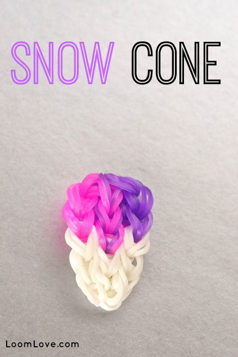 How to Make a Rainbow Loom Snow Cone Charm