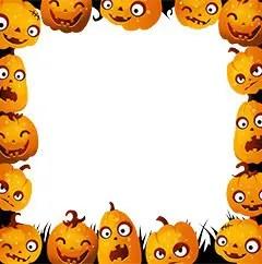 spooky halloween photo frames