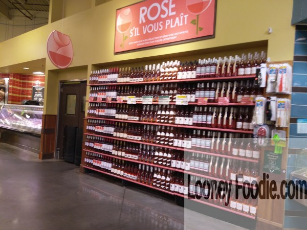 Whole Foods Market wall of Rose wine