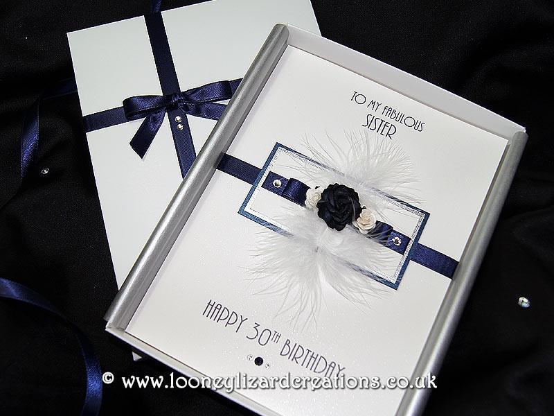 Midnight Luxury Handmade Birthday Card