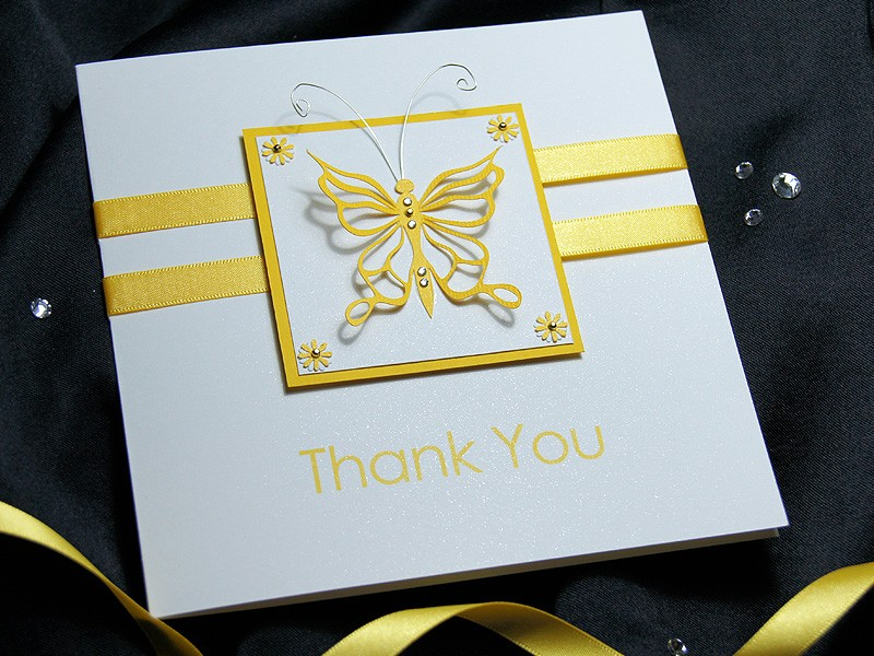 Flutter Handmade Thank You Card