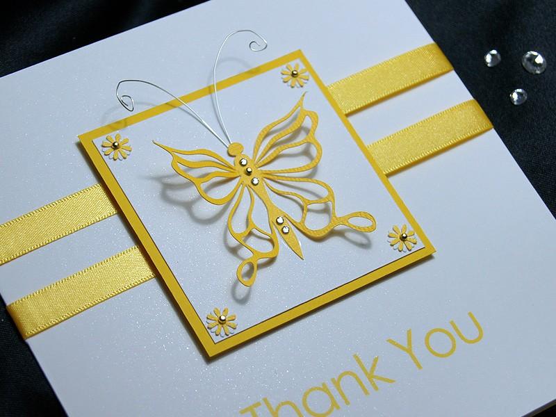 Flutter Handmade Thank You Card