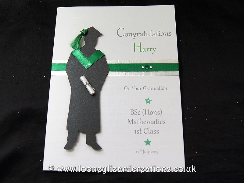 The Graduate Male Handmade Graduation Card
