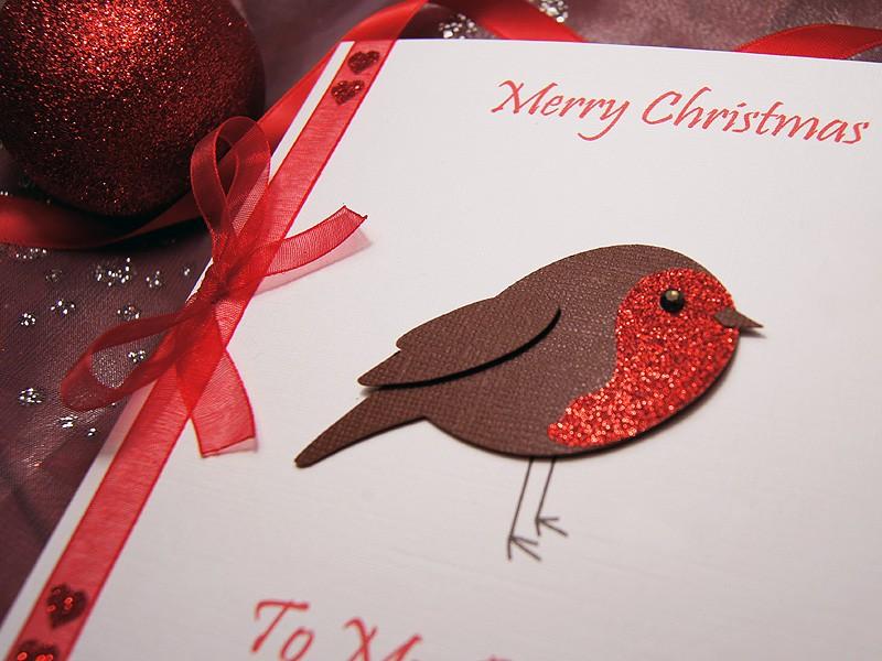 Lil' Robin Handmade Christmas Card