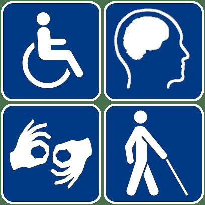 Accessibility testing symbols