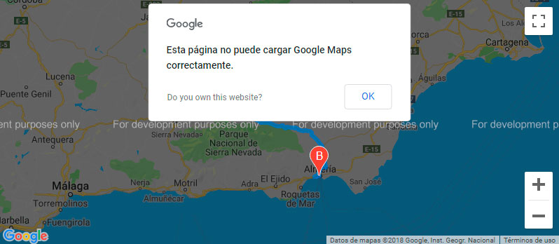 Solución al error de Google Maps: You have exceeded your