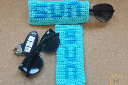 Tapestry crochet Crochet Sunglass gloves