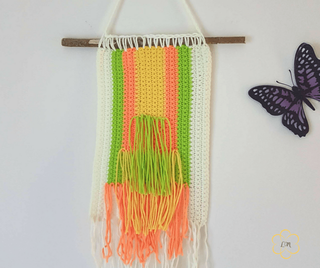 Beginner crochet wall hanging