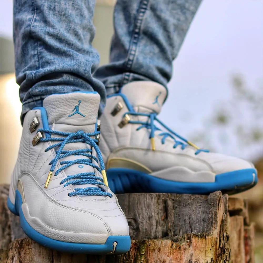 Jordan 12 Blue Grey Rope Shoelaces IMG2