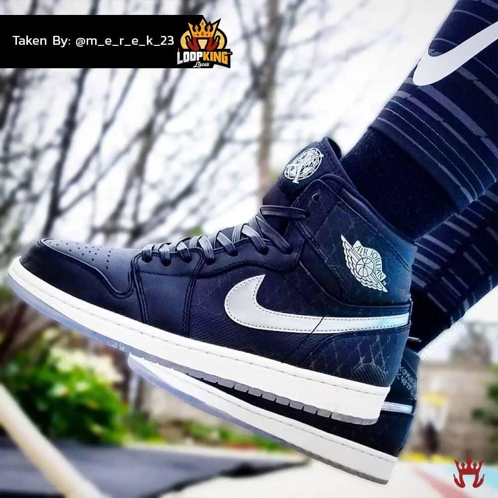 black leather shoelaces on jordan unloved 1