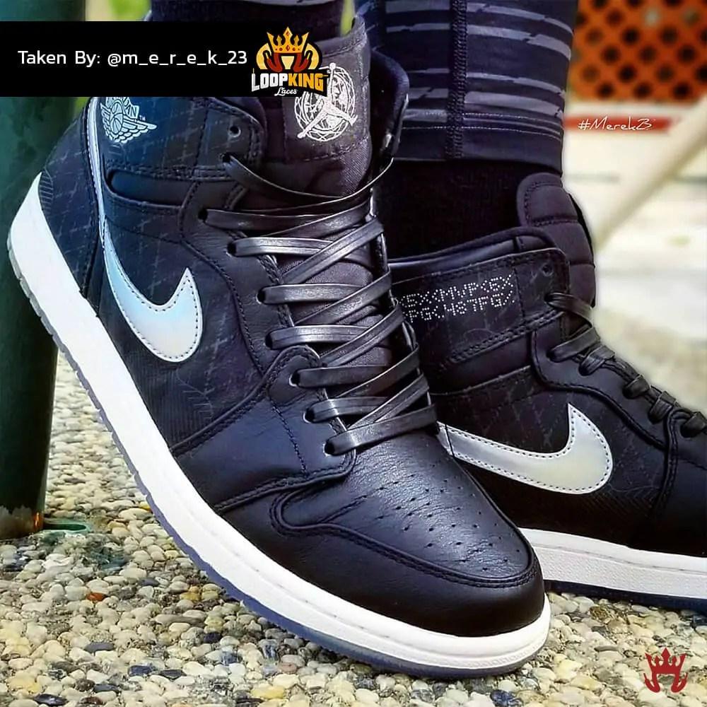 black leather shoelaces on jordan unloved 2