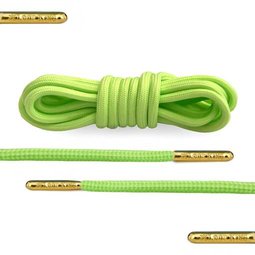 lime green rope round shoelaces