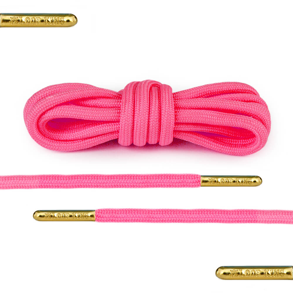 pink rope shoelaces round