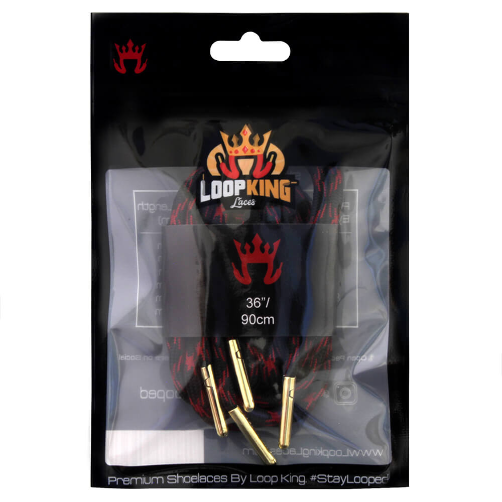 rope black red shoe laces packaging
