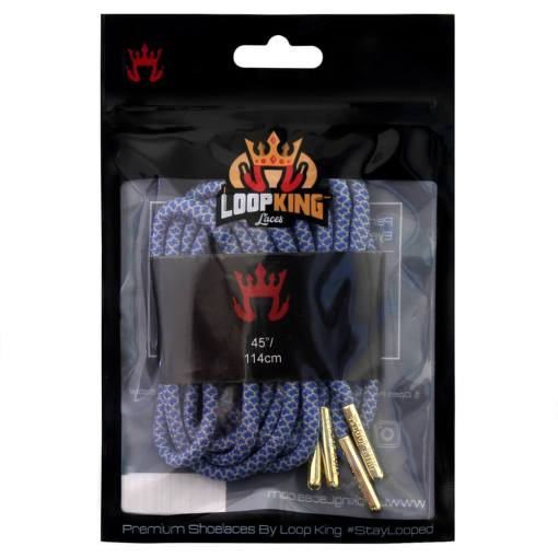 rope blue grey shoe laces packaging