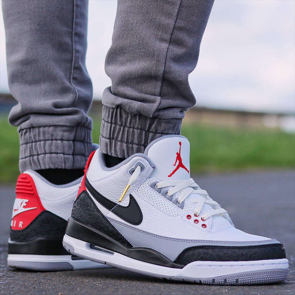 white leather shoelaces on jordan 3s 1