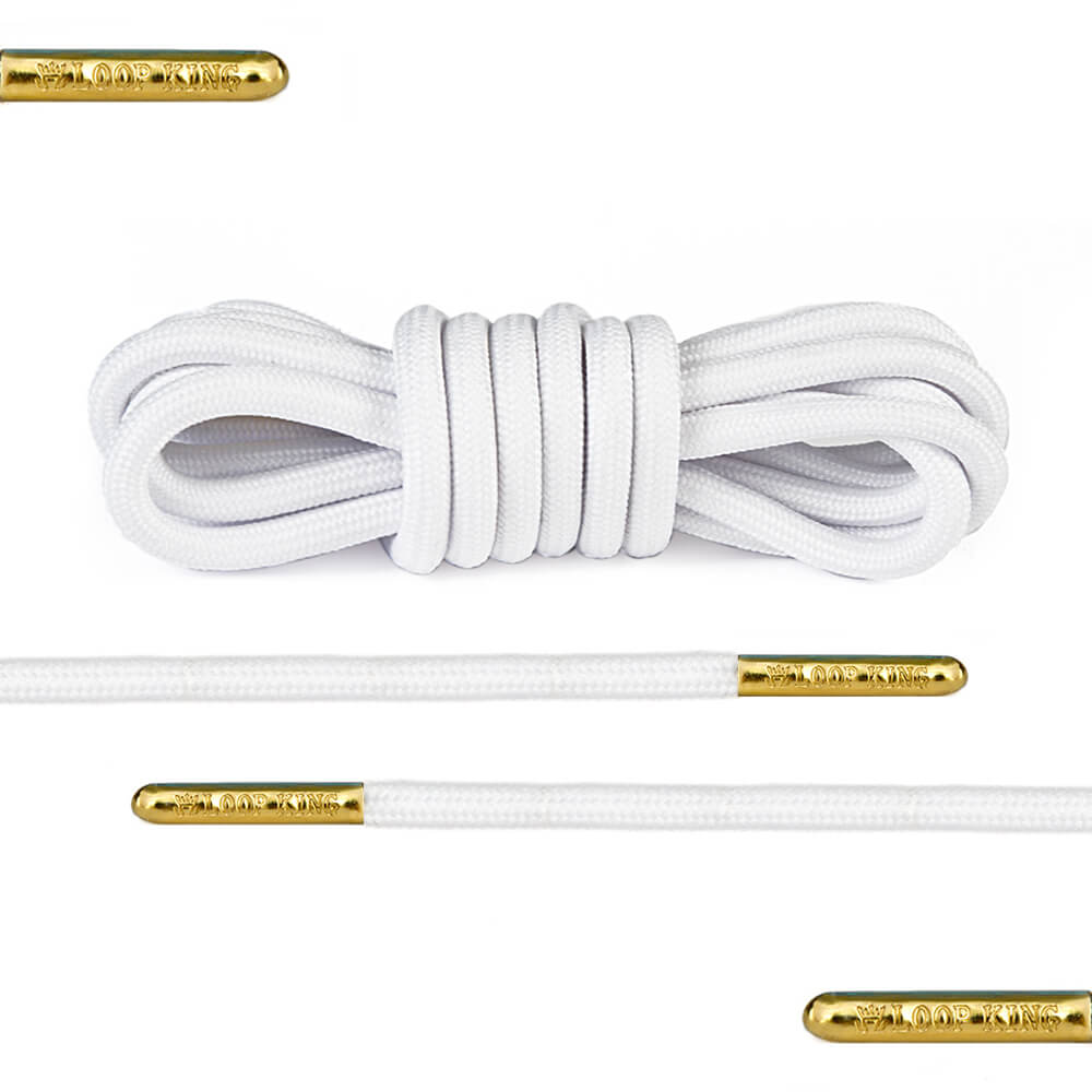 white rope round shoelaces