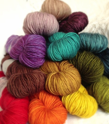 The Uncommon Thread, Lush Worsted - Rainbow Pyramid! www.loopknitlounge.com!
